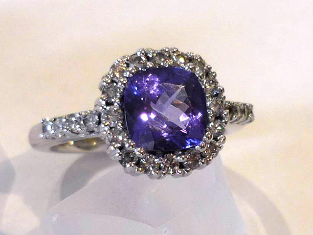 Tanz Cushion Diamond Ring