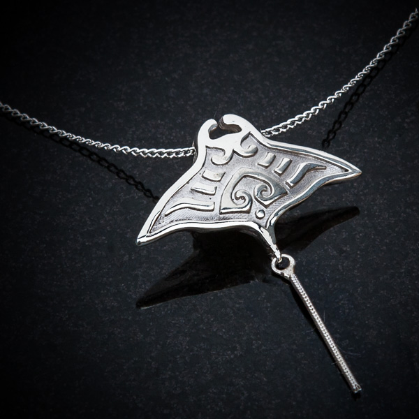 Manta Ray Pendant by Patricia Dudgeon Designs