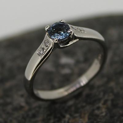 Platinum and Aqua Ring