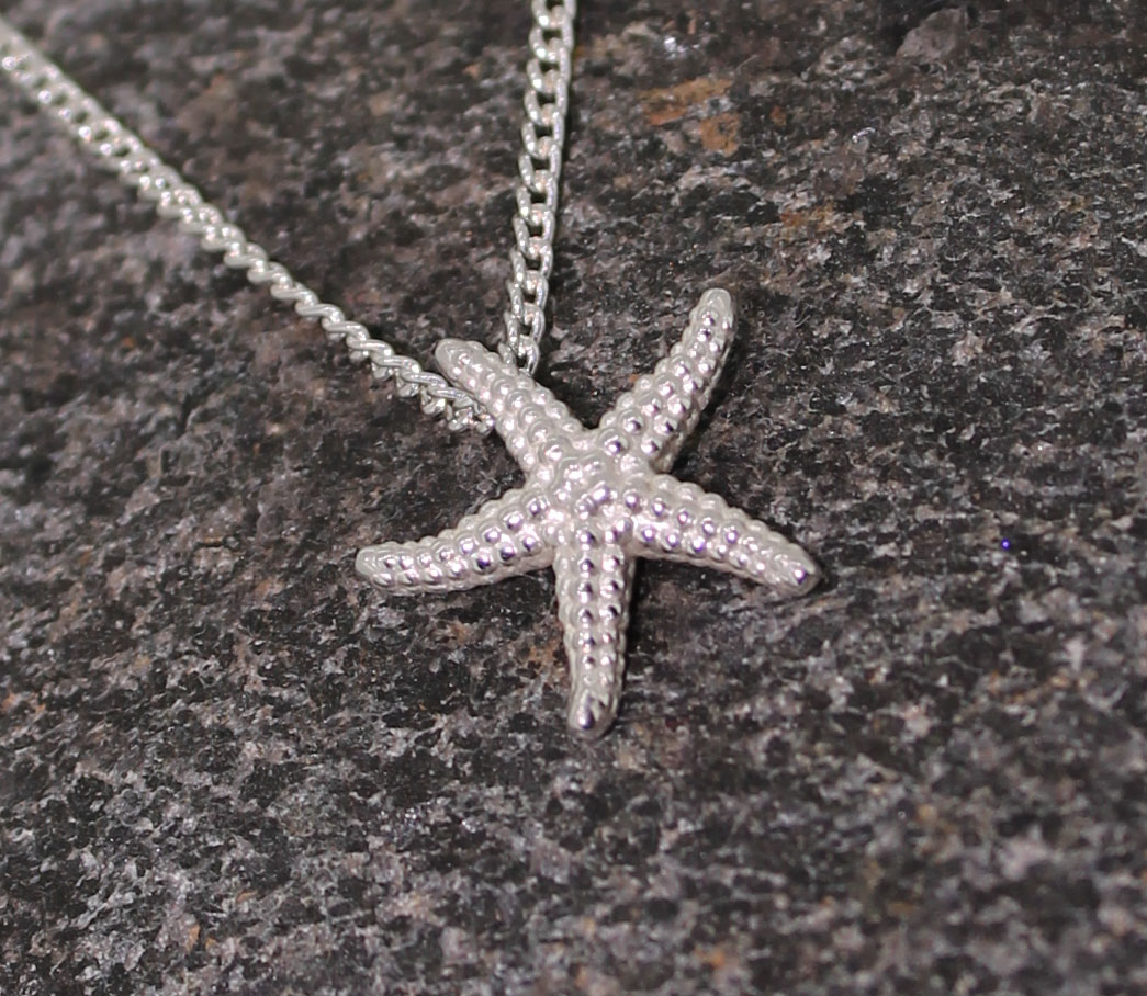 Small starfish pendant designed by Patricia Dudgeon Designs