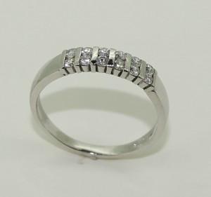 18ct white gold double row diamond eternity style ring