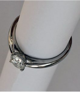 side view diamond solitaire ring