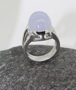 lavender jade platinum ring
